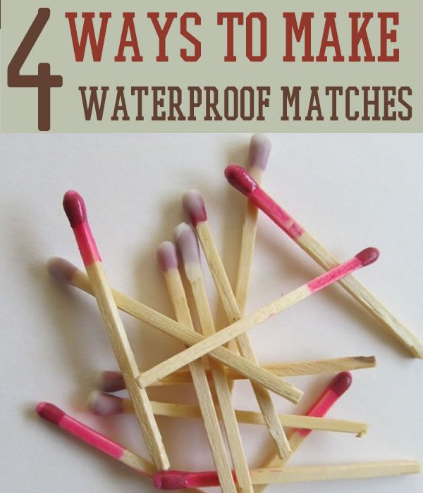 How to Make Homemade Waterproof Matches - Survival Life   Preppers   Survival Gear   Blog
