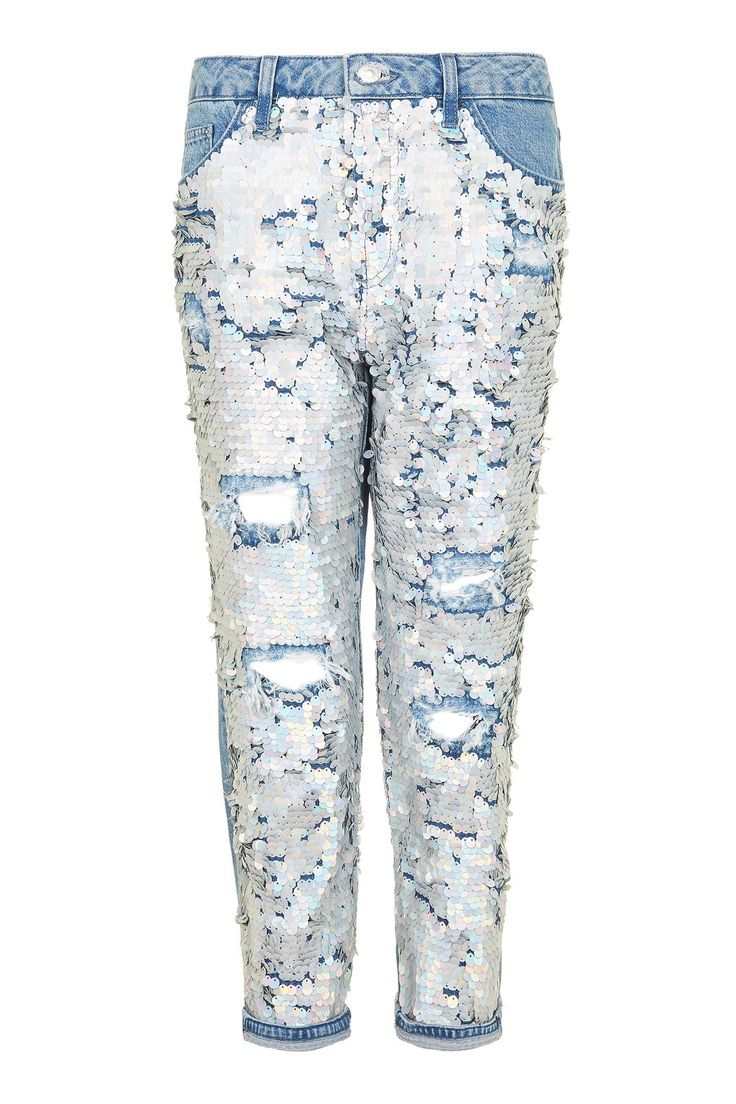 MOTO Shimmer Sequin Hayden Jeans - Topshop