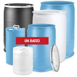Plastic Drums, 55 Gallon Plastic Drums in Stock - ULINE