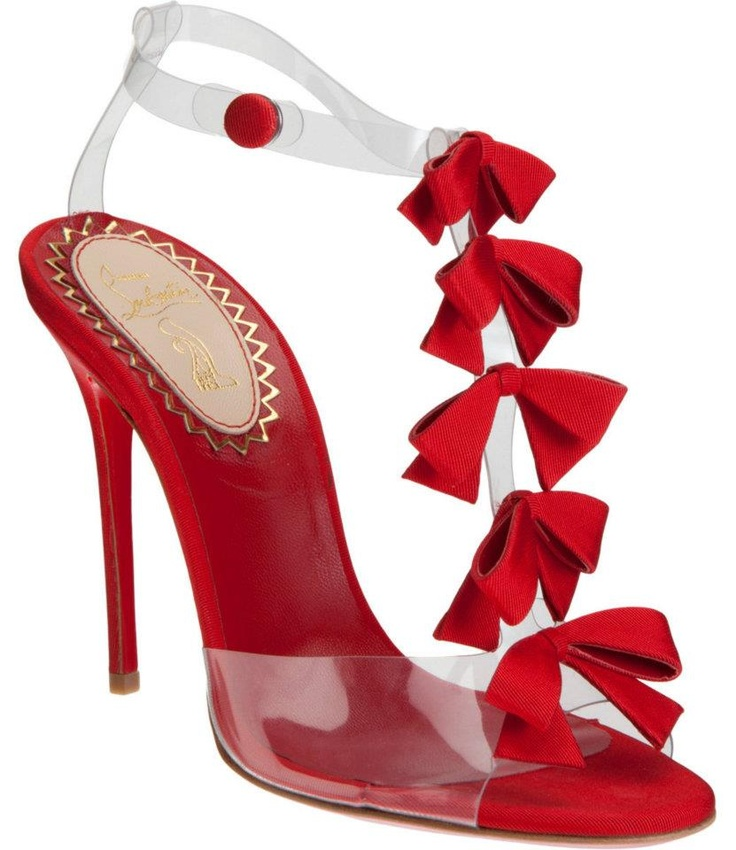 Bow BowShoes, Bow Sandals, Louboutin Bows, Bows Bows, Heels, Christian Louboutin, Bows Sandals, Red Bows, Christianlouboutin