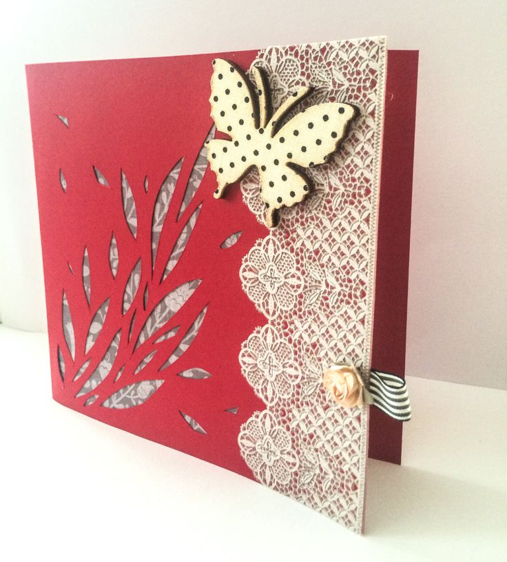 Handmade Greetings Card - Unique Card - Blank Card - Elegant - Butterfly Polka Dot - Modern Card - Die Cut Card - Love - Embossed - Paper de la boutique MademoiselleCraft sur Etsy
