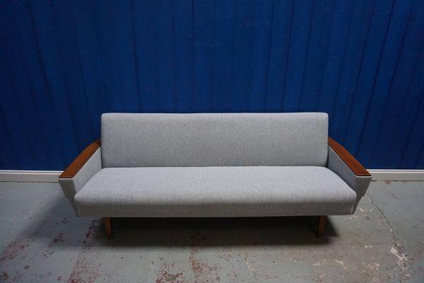 Danish Grey Tweed 3 Seater Sofa