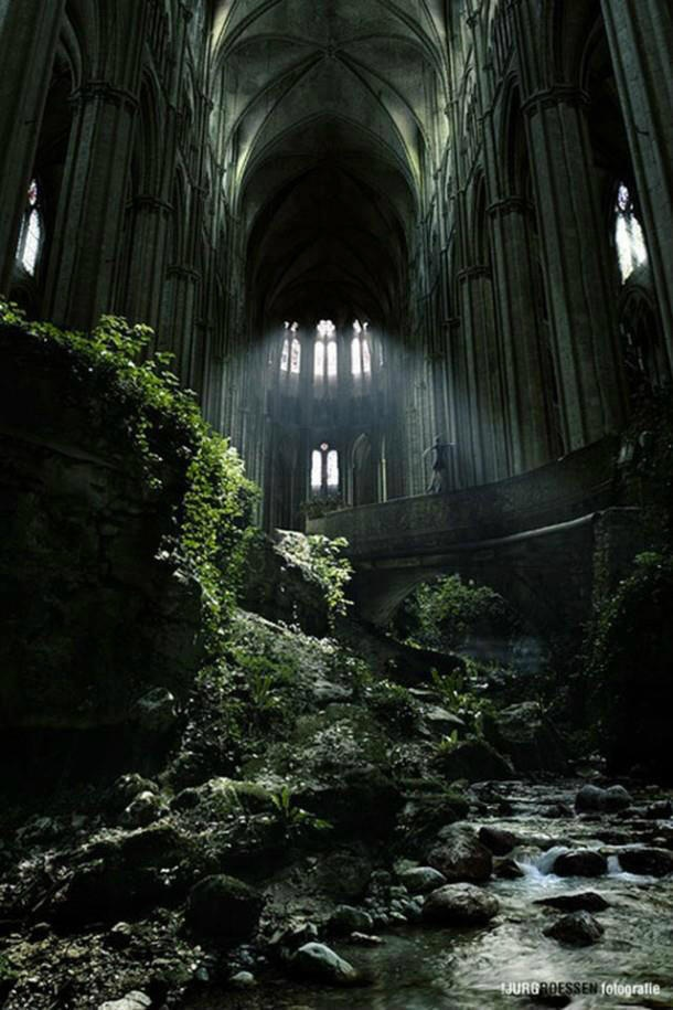St. Etienne abandoned church in France