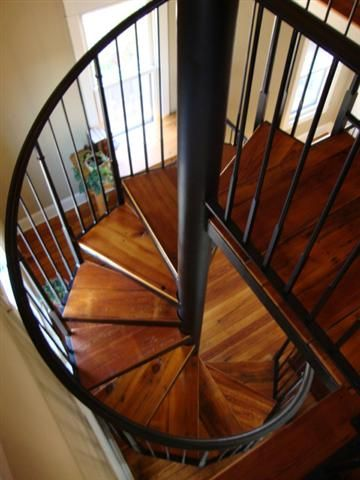 Charming Spiral Staircase To Basement Top View   Google Search