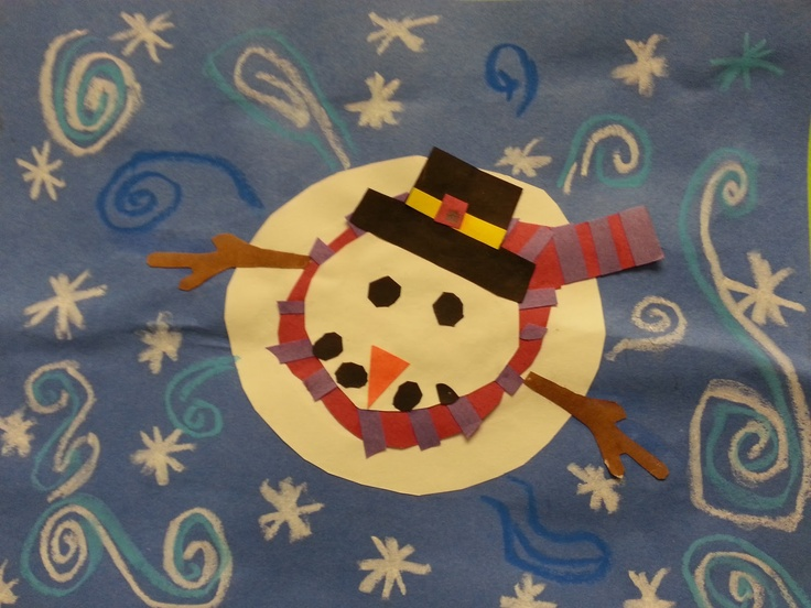 Tales from the Traveling Art Teacher!: Winter Inspired Creations!