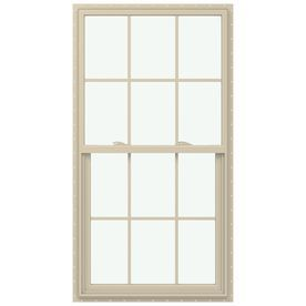 Jeld-Wen V-2500 Vinyl Double Pane Annealed Single Hung Window (Rough O