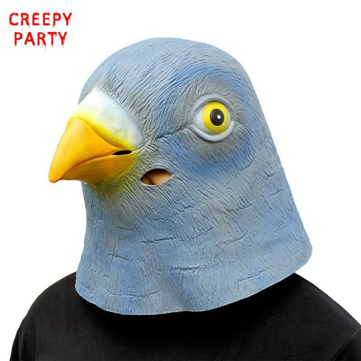 Bird Head Mask Novelty Latex Party Mask Halloween Costume Masquerade Fancy Dress Party Cosplay Costume Cute Animal Mask