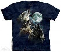 Футболка The Mountain Three Wolf Moon in Blue