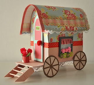 Paper Caravan! - Idea: Wouldn't this be cute with some quilling added to it? Idea by CQ CreaQuill.