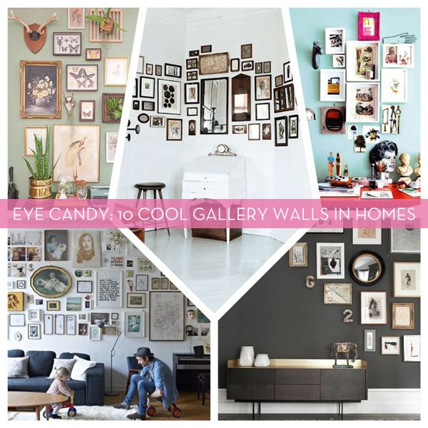 Eye Candy: Cool Gallery Walls in Homes
