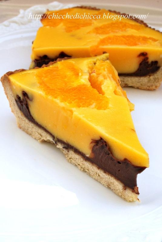 Crostata alla Crema d'Arancia e Cioccolato