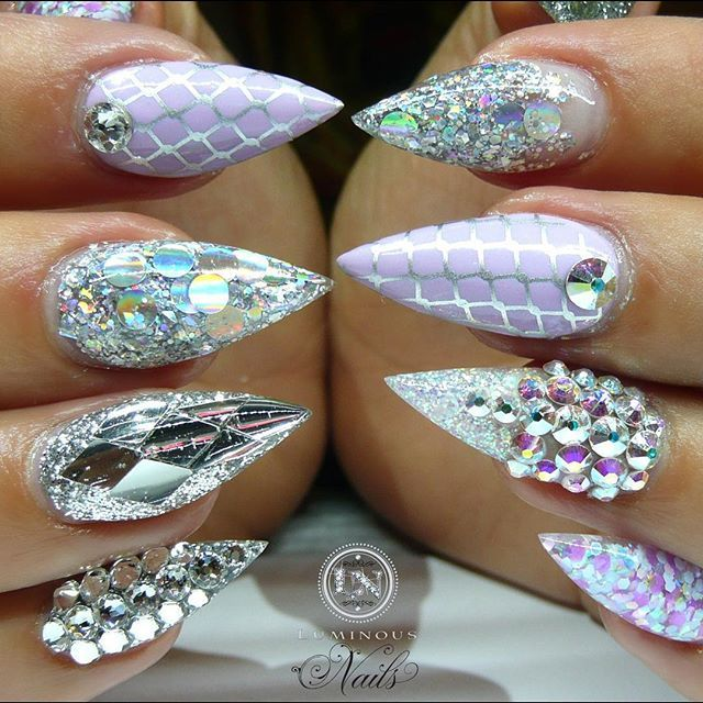 25 best ideas about crystal nails on pinterest pretty