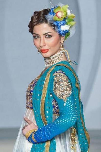 Nomi Ansari Party Wear Dresses at Pakistan Fashion Week 3