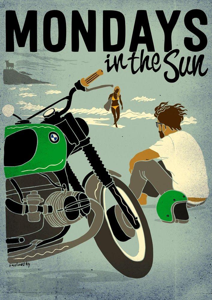 Mondays in the Sun -  Raulowsky Art  Corb Motorcycles
