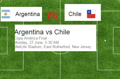 Ultimate final Argentina Vs Chile Copa America 2016