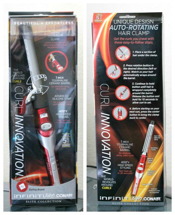 Infiniti Pro by Conair Auto-Rotating Curling Iron. Click thru for review and demo