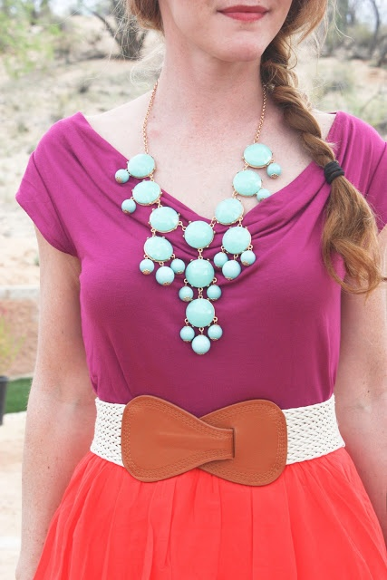 Wine, coral and mint
