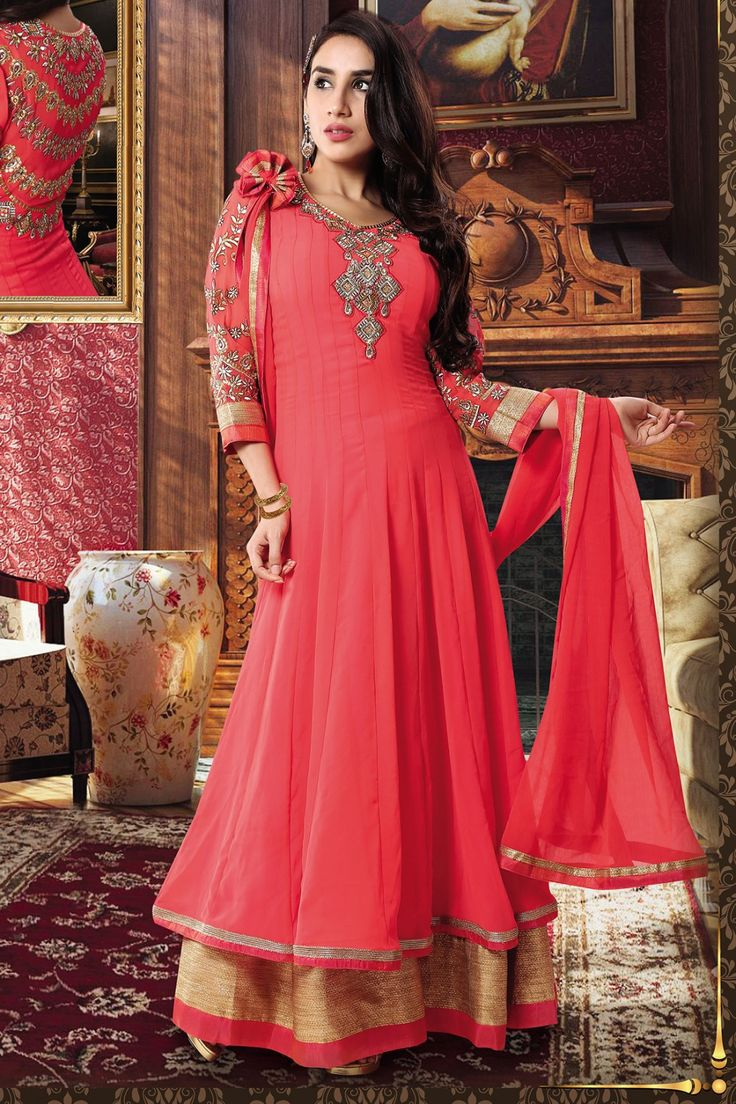 Look Pretty with New Pink Faux Georgette Anarkali Suit Shop now http://zohraa.com/pink-faux-georgette-anarkali-suit-kasatma… sku : 59901 Rs. 2,399 #anarkali #anarkalisuits #anarkalisonline #suits #suitsonline