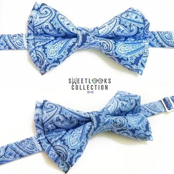 Royal Blue Bow Ties and Hair Bows