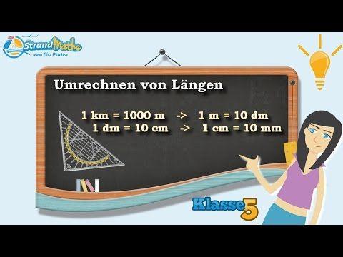 Längen umrechnen - mm cm dm Meter km || Klasse 5 ★ Wissen - YouTube