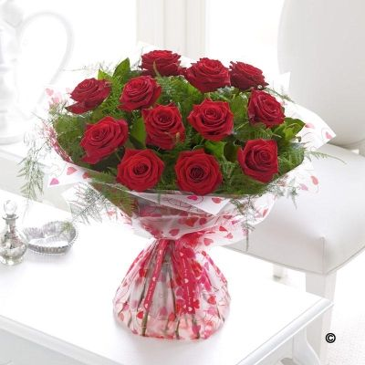 12 Grand Prix Rose Hand tied *  Imagine your Valentines face when these stunning Premium quality, long-stemmed red roses are delivered on Valentines Day. Here we've carefully selected a dozen of the finest large-headed roses, along with delicate ferns, to create an exquisite hand-tied bouquet, and a very stylish Valentine's gift. Price: £69.99 #ValentinesDay #RedRoses #Roses