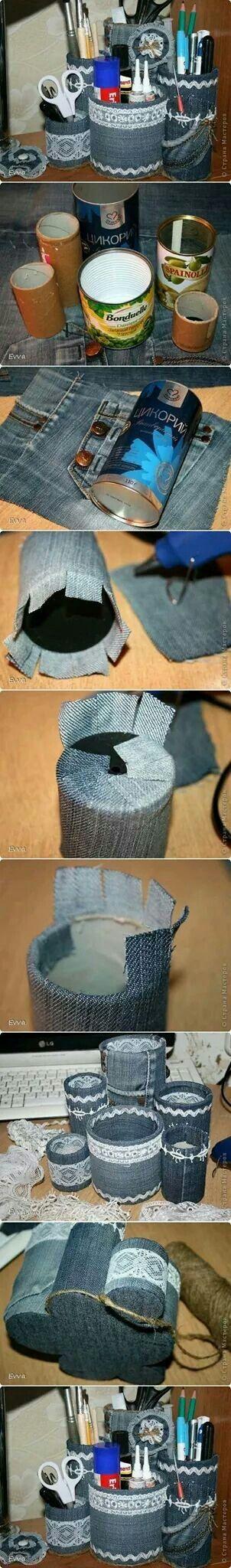 Leuk idee met spijkerbroeken