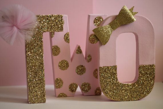 Pink and Gold Birthday Decorations  Glitter by Pink Sugar Shoppe