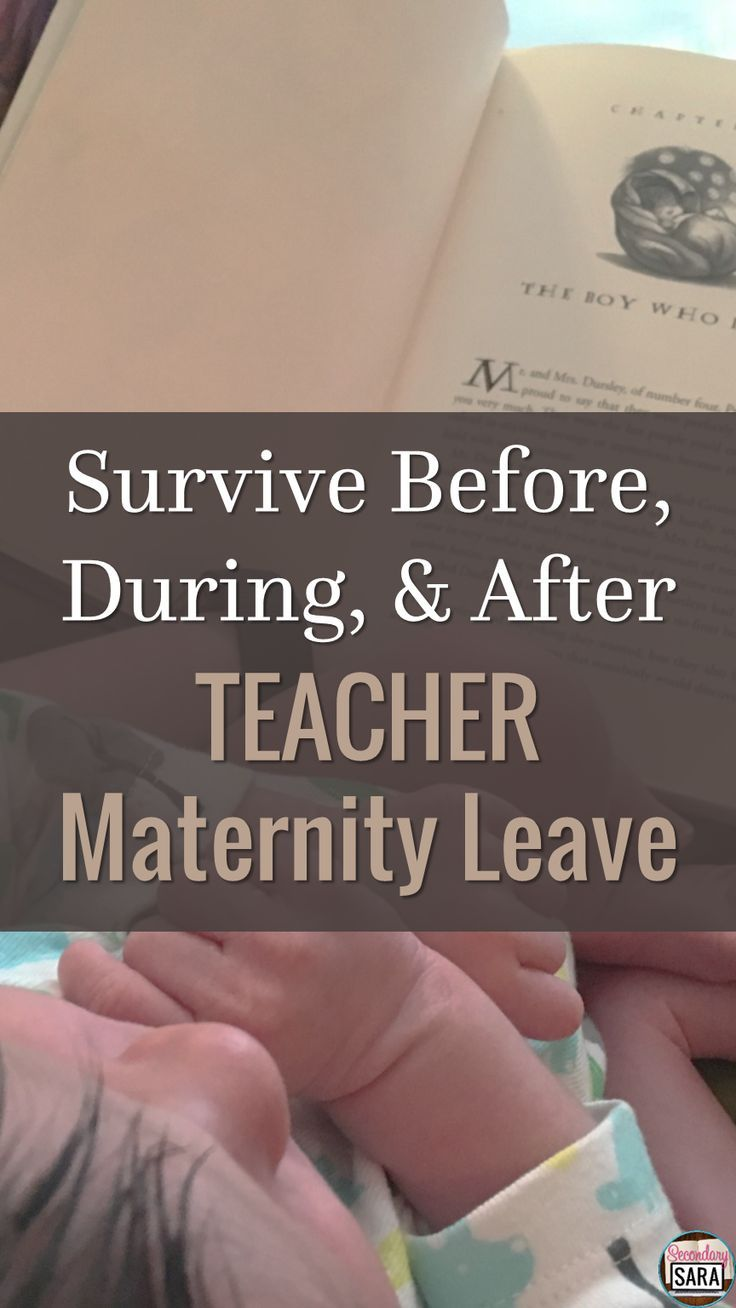Blog post of tips to get ready for teacher maternity leave, plus things to consider (and a FREE checklist) during and after as you ease back into teaching!