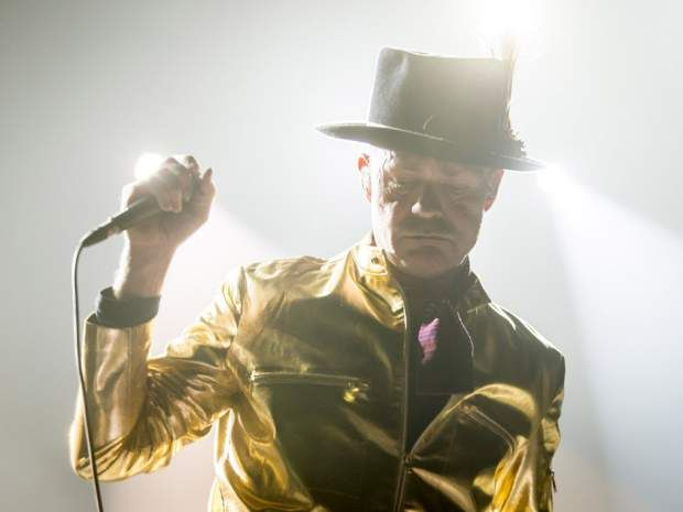 Gord Downie leads a Tragically Hip concert at the Scotiabank Saddledome in Calgary, Alta., on Monday, Aug. 1, 2016. The show was…