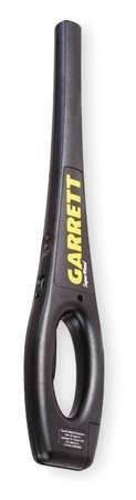 GARRETT METAL DETECTORS 1165800 Handheld Metal Detector,Plastic by GARRETT METAL DETECTORS. $222.36. Handheld Metal Detector, ABS Plastic Material, Exterior Width 3 1/4 In, Exterior Height 19 In, Exterior Depth 1 1/4 In, Weight 18.6 Lbs, Signal Output 80 dB, Automatic Audio Alarm, Operating Frequency 95,000 Hz, Max Operating Temp -35 F to +158 F, LED / Audio / Silent Vibrate Indicator, 9 Volt Battery, Battery Life 80 Hours, Standards Meets Electrical Safety Requirements for CE, ...