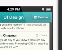 Tutorial: How to design a chatroom iPhone UI