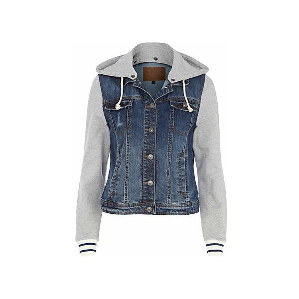 Jean Jacket With Hood For Women ❤ liked on Polyvore
