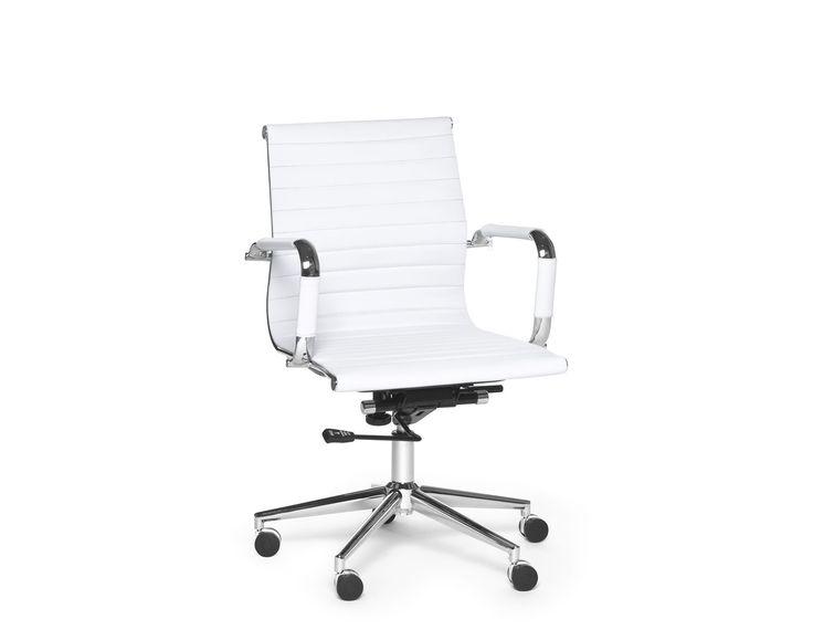 SPENCER - Chaise de bureau - Blanc