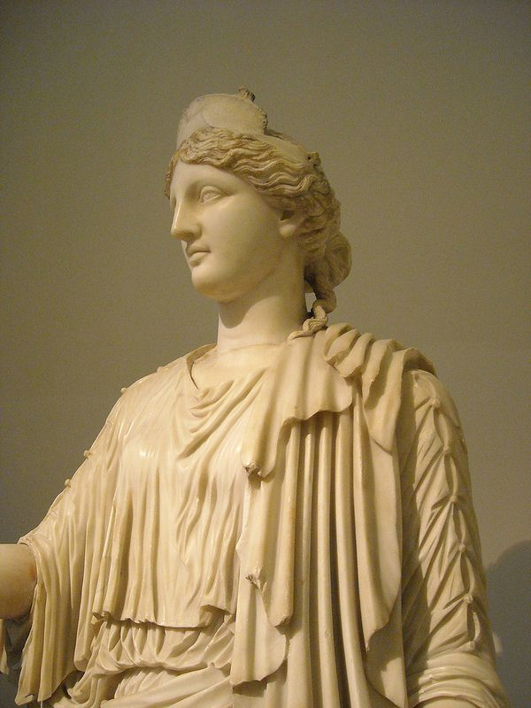Female divinity, Nemesis of Rhamnous type - 2nd century AD, copy of a cult statue from the sanctuary of Rhamnous in Attica, attributed to Agorakritos (430 BC) - Naples Archaeological Museum | da * Karl *