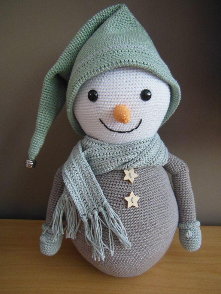 Gehaakte sneeuwpop <3 crochet snow man