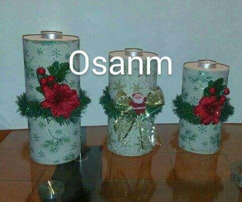 Hermosas velas de Navidad