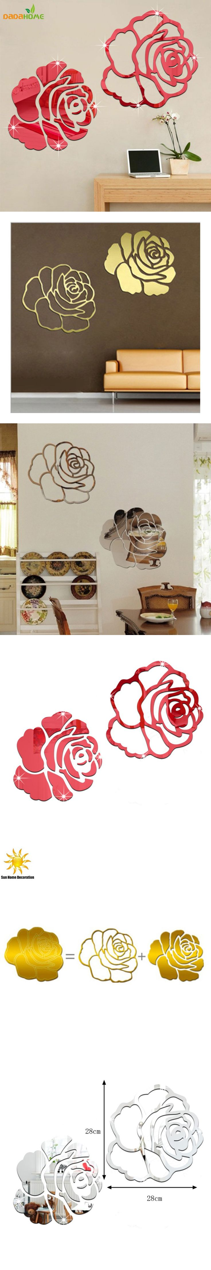 best 20 autocollant mural ideas on pinterest autocollants rose 3d mirror wall stickers for wall decoration diy home decor living room wall decal autocollant mural vinilo pared