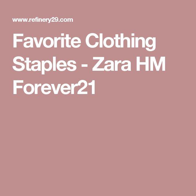 Favorite Clothing Staples - Zara HM Forever21