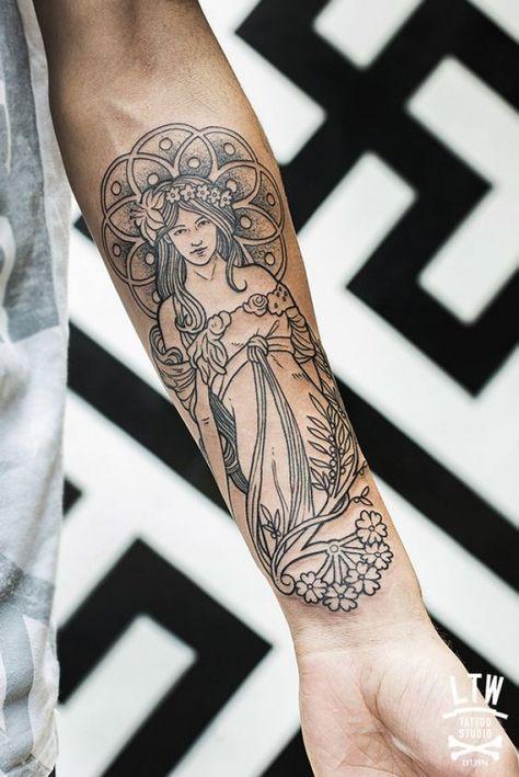 Les 25 meilleures id es de la cat gorie tatouage sur le bras sur pinterest bras henn - Tatouage trait bras ...