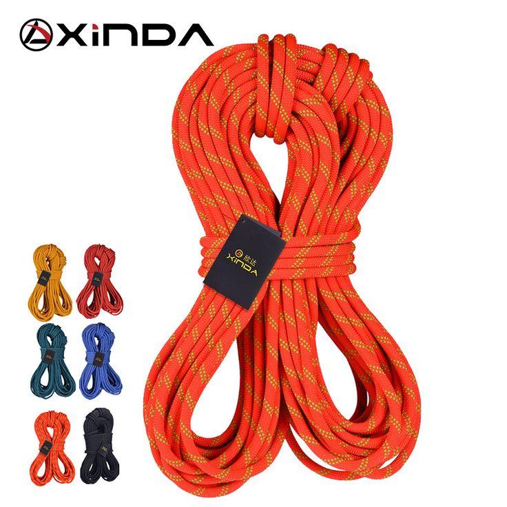 XINDA Escalada 10M Camping Rock Climbing Rope 10mm diameter 24KN High Strength Lanyard Safety Climbing Equipment Survival
