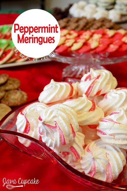 Peppermint Meringues | JavaCupcake.com: Peppermint Meringues, Meringue ...