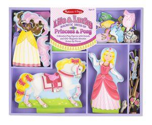 Melissa&Doug, Poupées magnétique Princesses et Poney Dress-up, en Bois, 3+ans, 31.99$. Disponible dans la boutique St-Sauveur (Laurentides) Boîte à Surprises, ou en ligne sur www.laboiteasurprises.ca ... sur notre catalogue de jouets en ligne, Livraison possible dans tout le Québec($) 450-240-0007 info@laboiteasurprisesdenicolas.ca