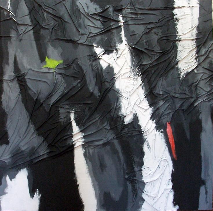 Chema Senra - Tandem (2013) #art #abstractart #painting