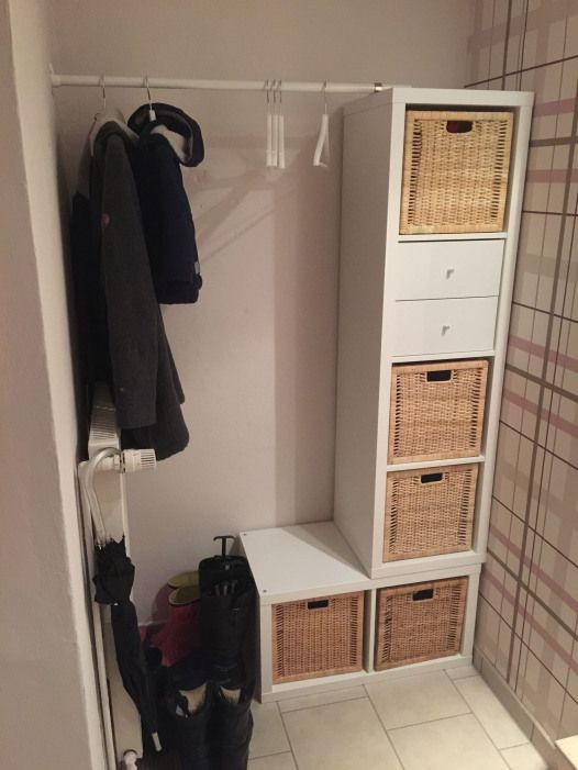 Diy Garderobe Ikea Kallax Furnituredesigns Furniture Designs In
