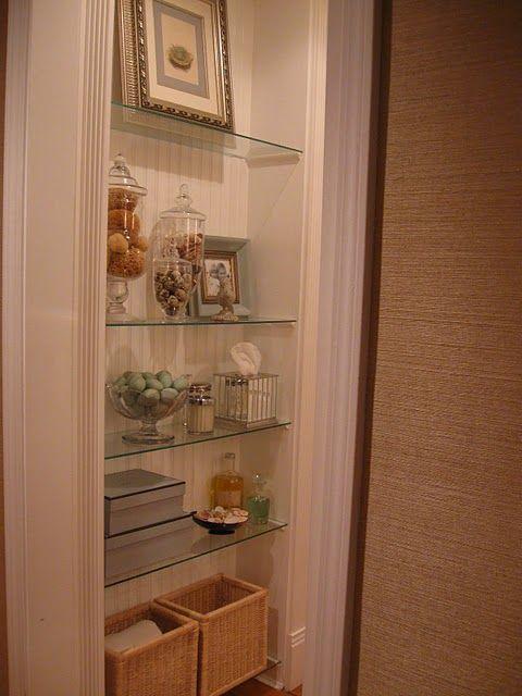 Image Result For Glass Bathroom Towel Shelves