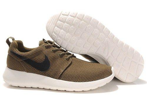Cheap 511881 201 roshe run coffee white men running shoes sale