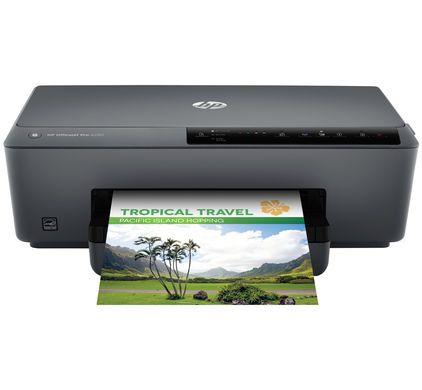 OfficeJet Pro 6230 ePrinter - 1 - 59,- bij CoolBlue. Plus- en minpunten   Verstuur je opdrachten draadloos via wifi.  Met AirPrint print je draadloos vanaf je iPad of iPhone.  Bespaar papier door automatisch dubbelzijdig af te drukken.  Met een snelheid van 18 pagina's per minuut is de printer geschikt voor op een kantoor.  Printer is minder geschikt voor het afdrukken van foto's.