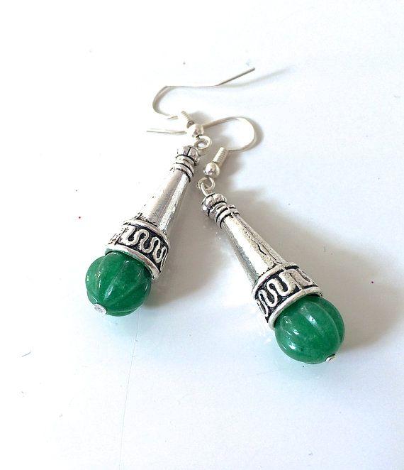 Orecchini verdi a forma di goccia orecchini cono di AnotherLAgrein