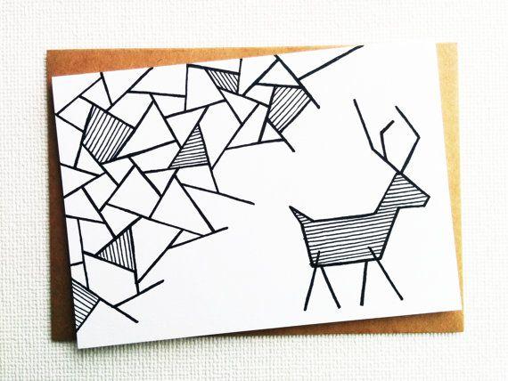 Wilt u meer kaarten kopen? Ik heb een paar aanbiedingen toegevoegd in mijn winkel waar u van 5, 10, 25 van 50 kaarten met een bulk korting kopen kunt. Je kunt ze hier vinden: http://etsy.me/2c4euJT *** De oorspronkelijke afbeelding is handgetekende en gedrukt op gerecycleerd en ecovriendelijke papier met een fijne korrel (250 g/m2 – 90 lb kaartmateriaal). De afdruk is in zwart-wit en de binnenkant van de kaart is blanc, zodat u uw eigen bericht kunt toevoegen. De kaart is voorzien van een…