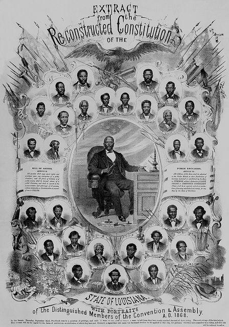 Louisiana Legislature was more than 1/2 Black right after the Civil War.
